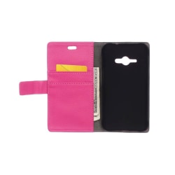 Mobilplånbok 2-kort Samsung Galaxy J1 Ace (SM-J110F) Rosa
