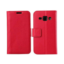 Mobilplånbok 2-kort Samsung Galaxy J1 2015 (SM-J100H) Röd