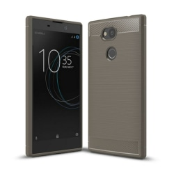 Borstat silikon TPU skal Sony Xperia L2 (H3311) Grå