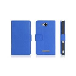 Mobilplånbok 2-kort Sony Xperia C (c2303) Blå