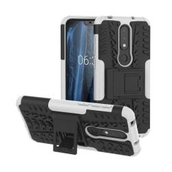 Stöttåligt skal med ställ Nokia 6.1 Plus (TA-1083) Vit