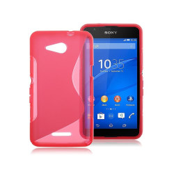 S Line silikon skal Sony Xperia E4G (E2003) Rosa