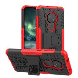 Stöttåligt skal med ställ Nokia 7.2 (TA-1178) Röd