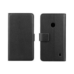 Mobilplånbok 2-kort Nokia Lumia 520/525 (RM915) Svart