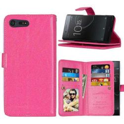 Dubbelflip Flexi 9-kort Sony Xperia XZ Premium (G8141) Rosa
