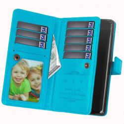 Dubbelflip Flexi 9-kort Sony Xperia XZ2 (H8266) Ljusblå