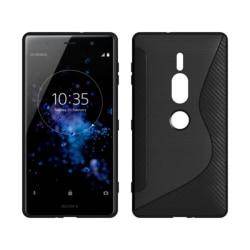 S Line silikon skal Sony Xperia XZ2 Premium (H8166) Svart