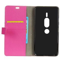 Mobilplånbok 2-kort Sony Xperia XZ2 Premium (H8166) Rosa