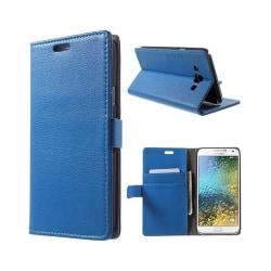 Mobilplånbok 2-kort Samsung Galaxy E7 (SM-E700) Blå