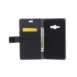 Mobilplånbok 2-kort Samsung Galaxy J1 Ace (SM-J110F) Svart