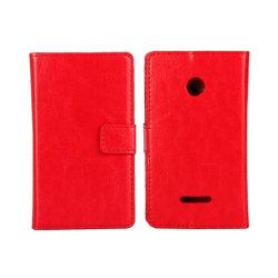 Mobilplånbok 2-kort Microsoft Lumia 435 (RM-1070) Röd