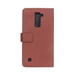 Mobilplånbok 2-kort LG K10 2016 (K420N) Brun