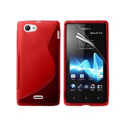 S Line silikon skal Sony Xperia J (ST26i) Röd