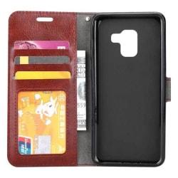 Mobilplånbok 3-kort Samsung Galaxy A8 Plus 2018 (SM-A730F) Brun
