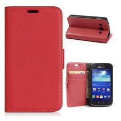 Mobilplånbok 2-kort Samsung Galaxy Trend 2 (SM-G313H) Röd