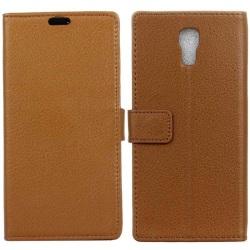 Mobilplånbok 2-kort LG X Screen (K500N) Brun