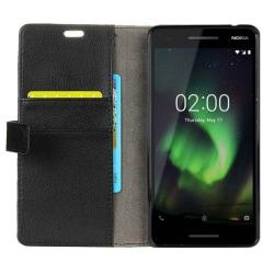 Mobilplånbok 2-kort Nokia 2.1 2018 (TA-1080) Svart