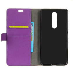 Mobilplånbok 2-kort Nokia 5.1 Plus (TA-1109) Lila