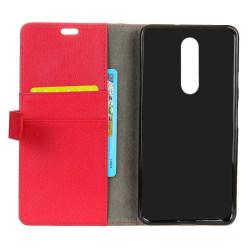 Mobilplånbok 2-kort Nokia 5.1 Plus (TA-1109) Röd