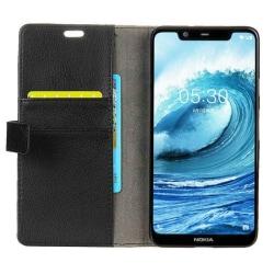 Mobilplånbok 2-kort Nokia 5.1 Plus (TA-1109) Svart