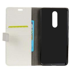 Mobilplånbok 2-kort Nokia 5.1 Plus (TA-1109) Vit