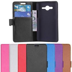 Mobilplånbok 2-kort Samsung Galaxy Ace 4 (SM-G357F) Svart