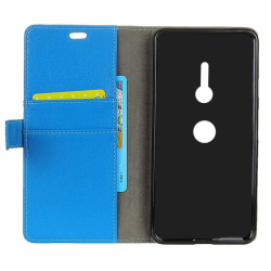 Mobilplånbok 2-kort Sony Xperia XZ2 (H8266) Blå