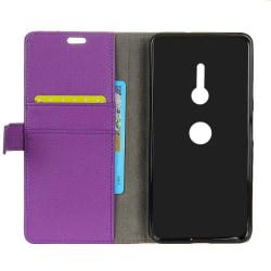 Mobilplånbok 2-kort Sony Xperia XZ2 (H8266) Lila