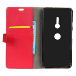 Mobilplånbok 2-kort Sony Xperia XZ2 (H8266) Röd
