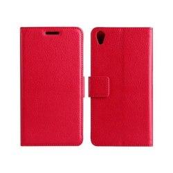 Mobilplånbok 2-kort Sony Xperia Z5 Premium (E6853) Röd