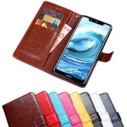 Mobilplånbok 3-kort Nokia 5.1 Plus (TA-1109) Röd