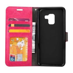 Mobilplånbok 3-kort Samsung Galaxy A6 Plus 2018 (SM-A610F) Rosa