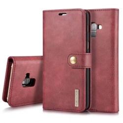 Mobilplånbok DG-Ming 2i1 Samsung Galaxy A6 Plus (SM-A605F) Röd