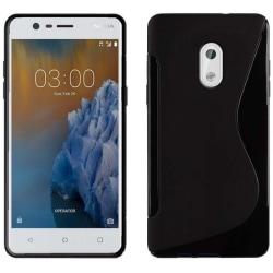 S Line silikon skal Nokia 3 (TA-1032) Svart
