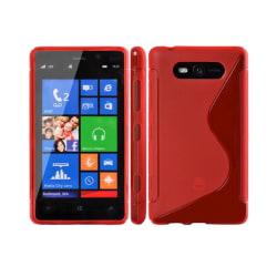 S Line silikon skal Nokia Lumia 820 (RM-825) Röd