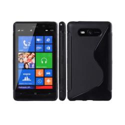 S Line silikon skal Nokia Lumia 820 (RM-825) Svart