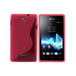 S Line silikon skal Sony Xperia E (c1505) Rosa