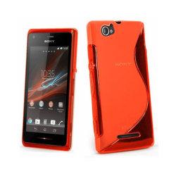 S Line silikon skal Sony Xperia M (c1905) Röd