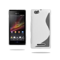 S Line silikon skal Sony Xperia M (c1905) Vit