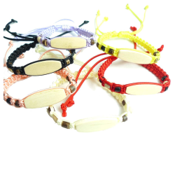Armband för barn med namnplatta av trä 6-pack
