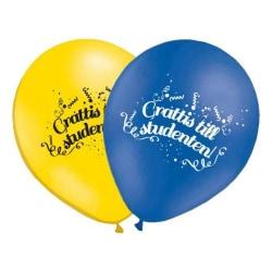 10-Pack - Ballonger Grattis till Studenten - Ballong Student