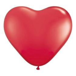 10-Pack - Hjärtballonger / Ballonger - Röda