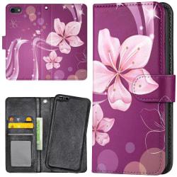Huawei Honor 7 - Plånboksfodral Vit Blomma