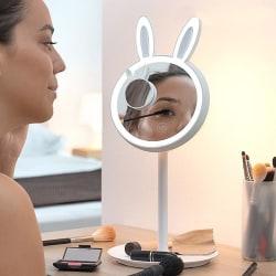 2-i-1 Sminkspegel med LED / Förstoringsspegel - Smink Spegel