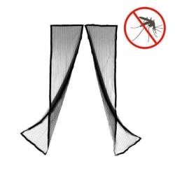 Myggnät med Magnet för Dörr / Insektsgardin / Insektsnät - Svart Svart
