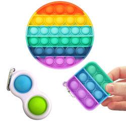 3-Pack Fidget Toys - Pop It, Simple Dimple multifärg