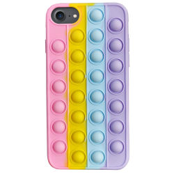 iPhone 6/7/8/SE - Pop It Fidget Skal + Leksak / Mobilskal multifärg