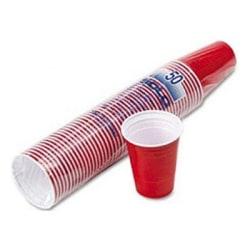 50-Pack - Plastmuggar / Party Cups - Röd Röd