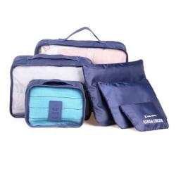 6-i-1 Innerväska / Små Väskor till Resväska - Mörkblå