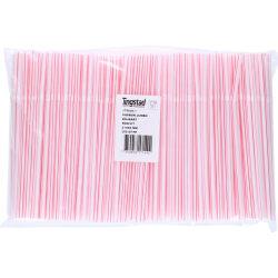 500-Pack - Böjbara Sugrör - Röd / Vit Vit